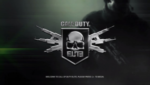 Call of Duty Elite Start Screen