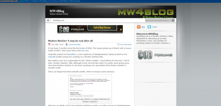 MW4Blog Closed