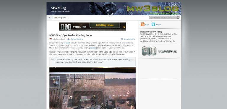 MW3 Blog Closed