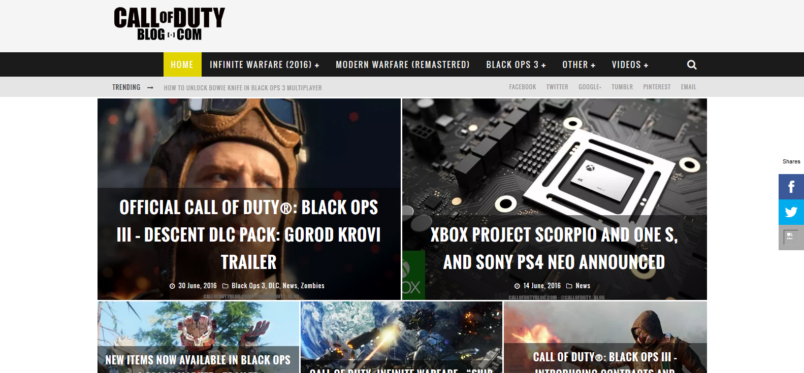 End of Call of Duty Blog