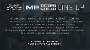 CODMW Reveal Streamers Lineup