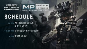 CoDMW MP Reveal Schedule