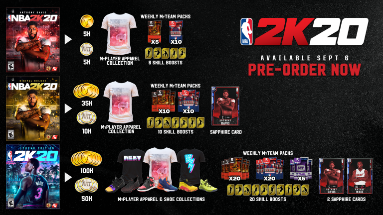 NBA2K20 Collectors Editions