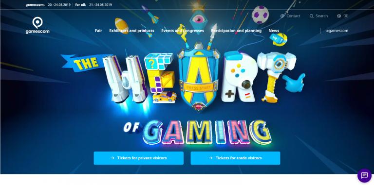 Gamescom 2019 Website